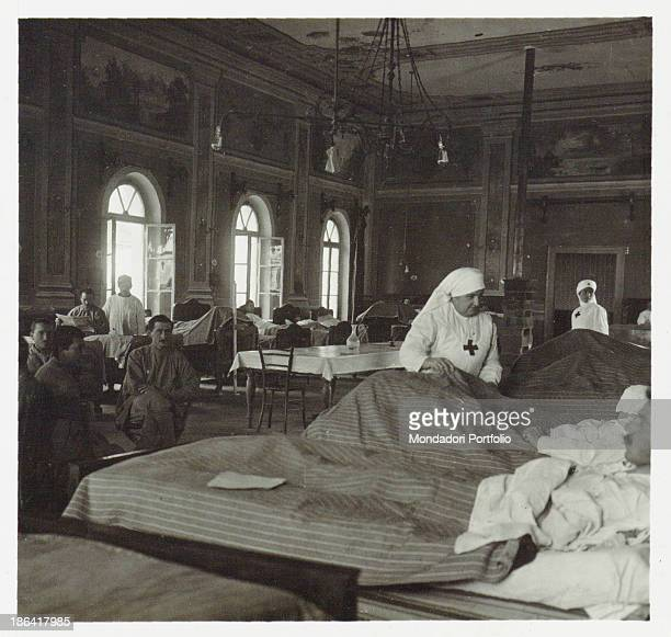 ARMY Hospital of Italian Red Cross no 52 in Arta Italy 1916 Gelatine process Rome Central Museum of the Risorgimento