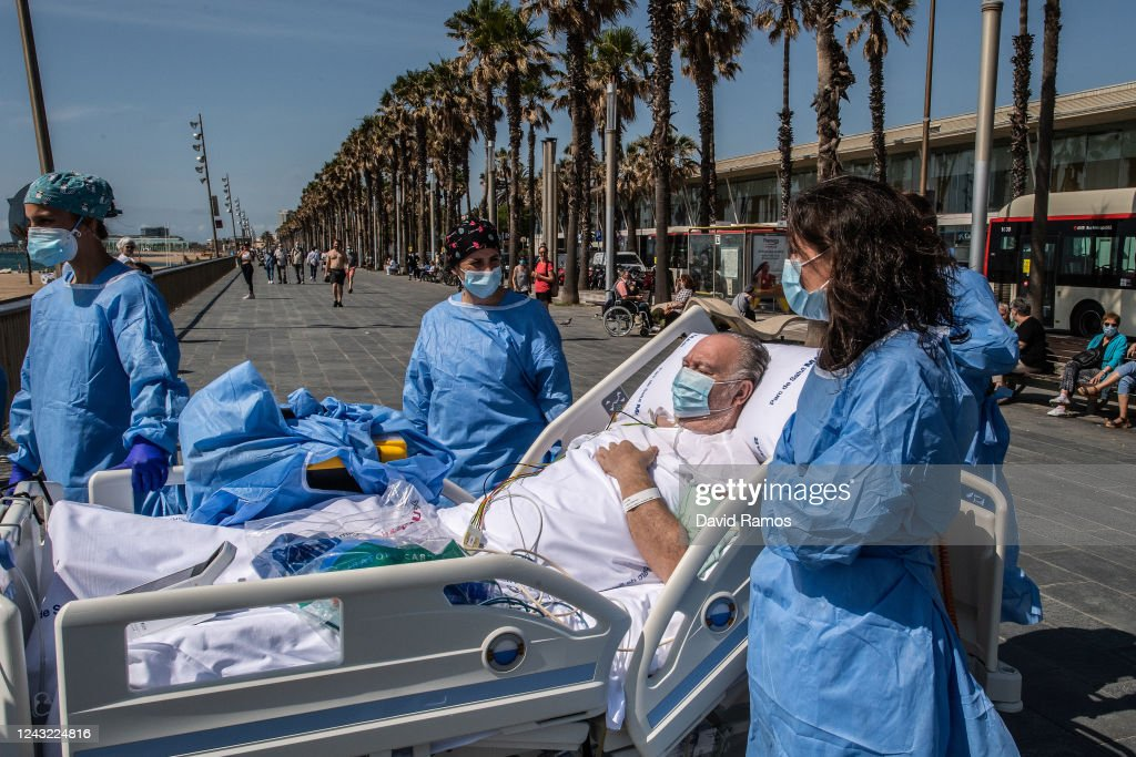 Barcelona Hospital Takes Recovering Coronavirus Patients To The Seaside : News Photo