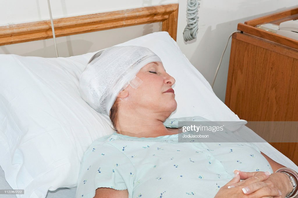 Hospital patient sleeping : Stock Photo