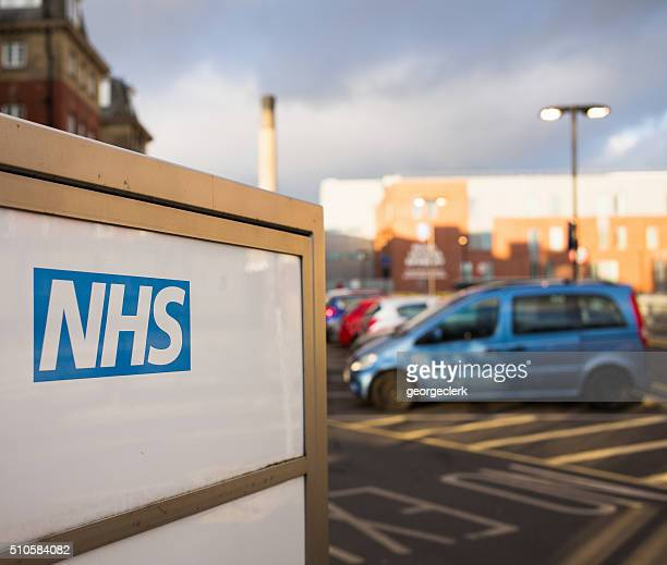 nhs hospital sign - general hospital stock photos and pictures