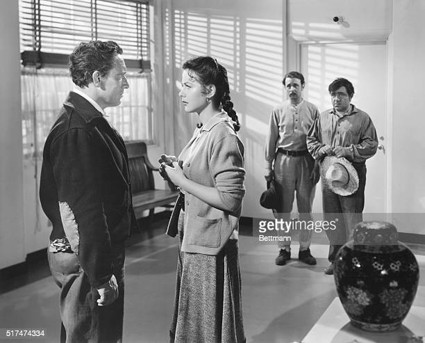 """Hospital Vigil. In John Steinbeck's Tortilla Flat, produced by Metro-Goldwyn-Mayer, Dolores """"Sweets"""" Ramirez, played by lovely Hedy Lamarr, manages..."""