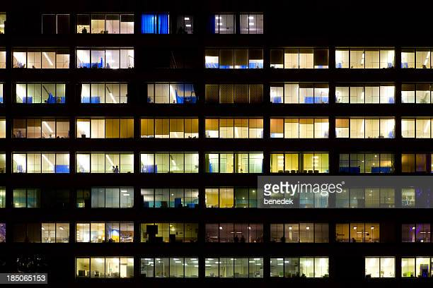 hospital windows - hospital building stock photos and pictures