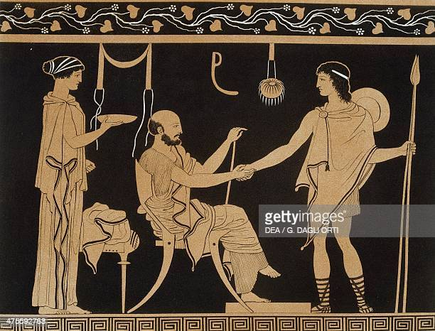 Hospitality scene from the Collection of Greek Vases by Mr Le Comte de Lamburg 18131824 by Alexandre de Laborde Table 22 Volume I Paris Bibliothèque...