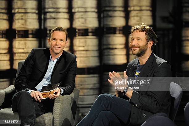 Hosr Dermot Whelan and Chris O'Dowd on the From The Storehouse With Dermot Whelan show, which aired on RTE 2, ahead of this year's Arthur's Day...