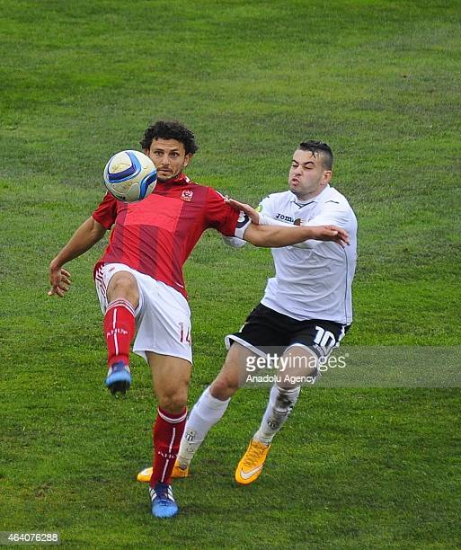 Hossam Ghaly of Ahly is in action during the African Super Cup match between CAF Champions League winner Algeria's ES Setif and CAF Confederation Cup...