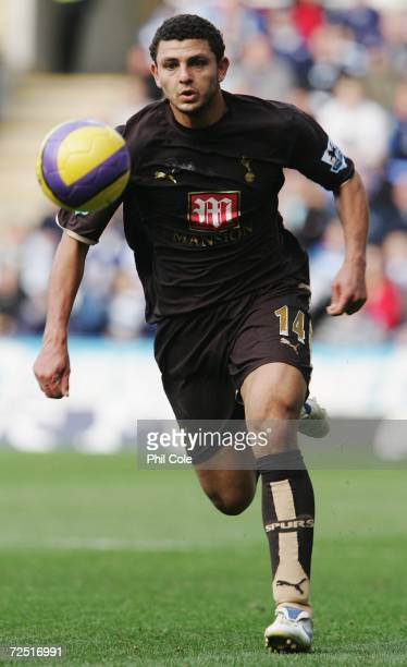 Hossam Ghaly of Tottenham Hotspur runs with the ball during the Barclays Premiership match between Reading and Tottenham Hotspur at the Madejski...