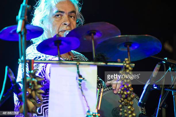 'Hossam Ramzy' perform on the Open Air Stage on day 2 of the WOMAD Festival at Charlton Park on July 25 2015 in Wiltshire England