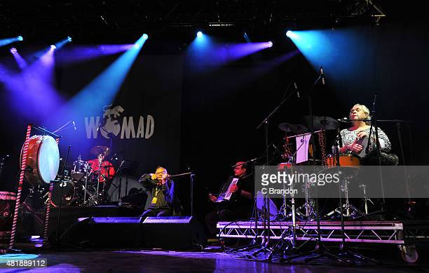 Hossam Ramzy performs on stage during the 2nd Day of the Womad Festival at Charlton Park on July 25 2015 in Wiltshire England