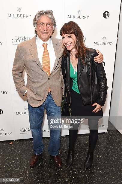 Hossein Amirsadeghi Publisher and editor of London Burning and Annie Morris attend the London Burning Launch Event at The ICA supported by Mulberry...