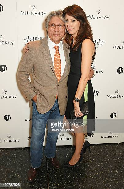 Hossein Amirsadeghi Publisher and editor of London Burning and Kate Martin attend the London Burning Launch Event at The ICA supported by Mulberry at...
