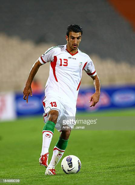 Hossein Mahini during AFC Asian Cup Qualifiers between Iran and Thailand at Azadi Stadium Tehran Iran on October 15 2013 in Tehran Iran