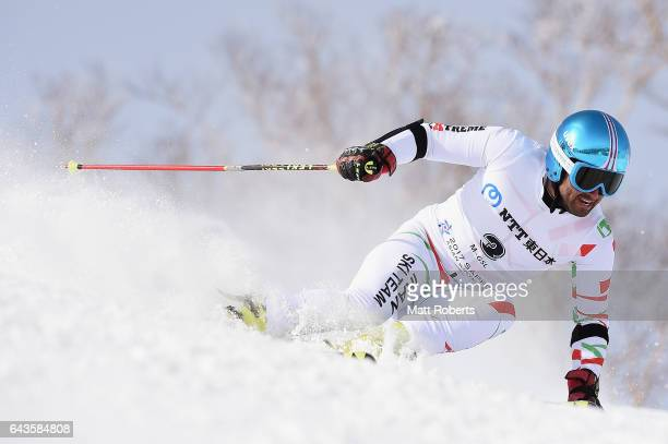 Hossein SavehShemshaki of Iran competes in the men's alpine skiing giant slalom on day five of the 2017 Sapporo Asian Winter Games at Sapporo Teine...