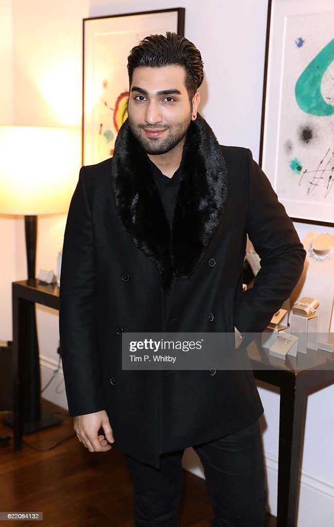 Hossein Tohi attends an afternoon tea hosted by Damiani in aid of Nadedza Foundation at Morton's Club on November 9, 2016 in London, England.