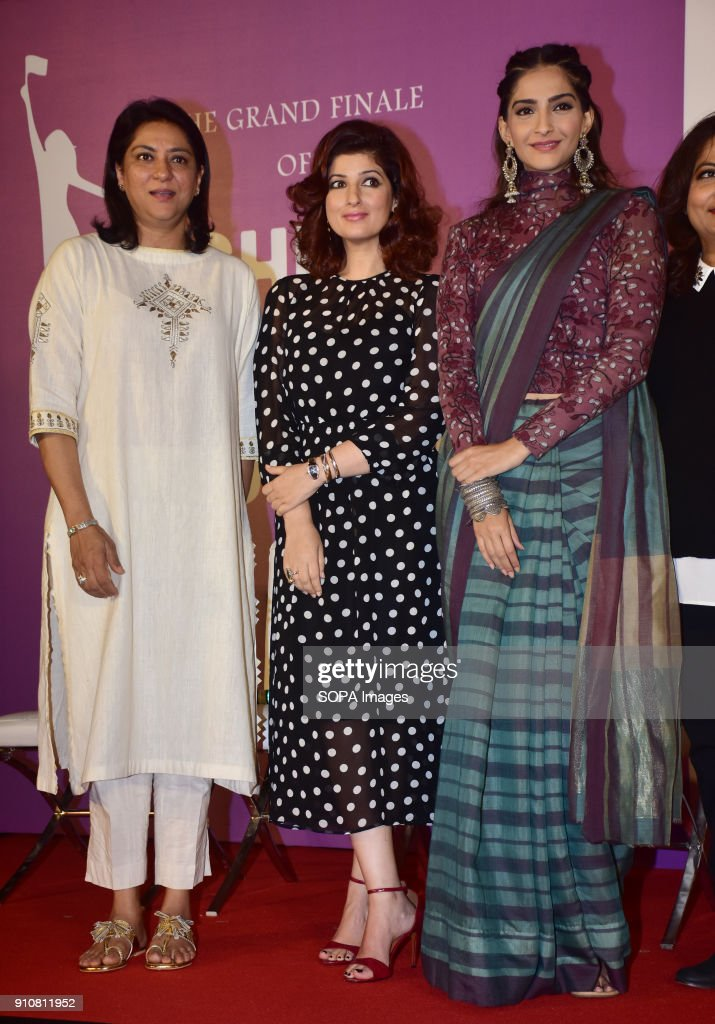 NEST host a Pretty Powerful Padman Awards at the grand finale of Shes Ambassador Program with Priya Dutt Twinkle Khanna and Sonam Kapoor at par juhu..
