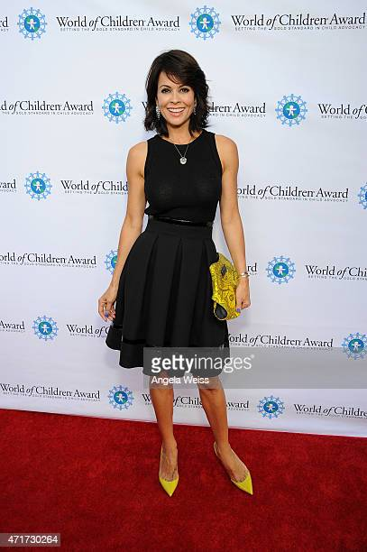 Host actress and CEO of ModernMom Brooke BurkeCharvet attends the World of Children Award 2015 Alumni Honors at Il Cielo on April 30 2015 in Beverly...