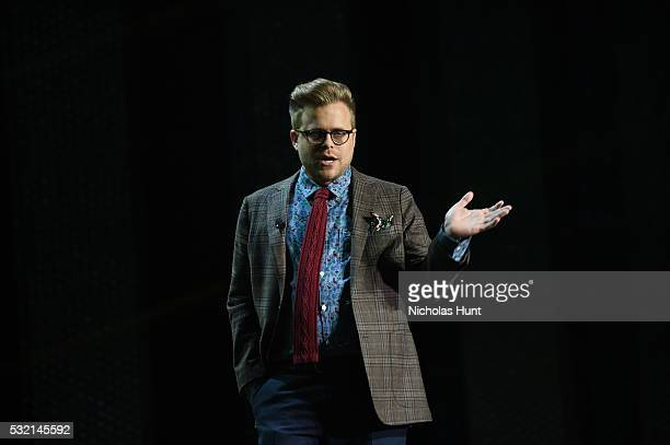 Host Adam Conover appears on stage during Turner Upfront 2016 show at The Theater at Madison Square Garden on May 18 2016 in New York City