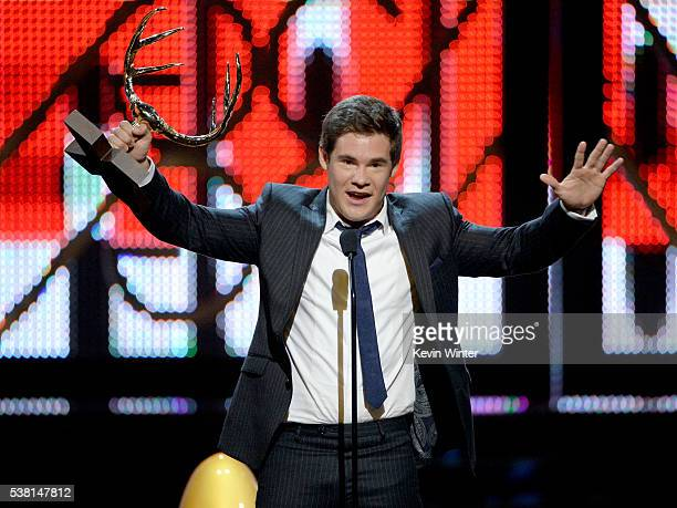 Host Adam DeVine accepts the Comedy MVP award onstage during Spike TV's 10th Annual Guys Choice Awards at Sony Pictures Studios on June 4 2016 in...