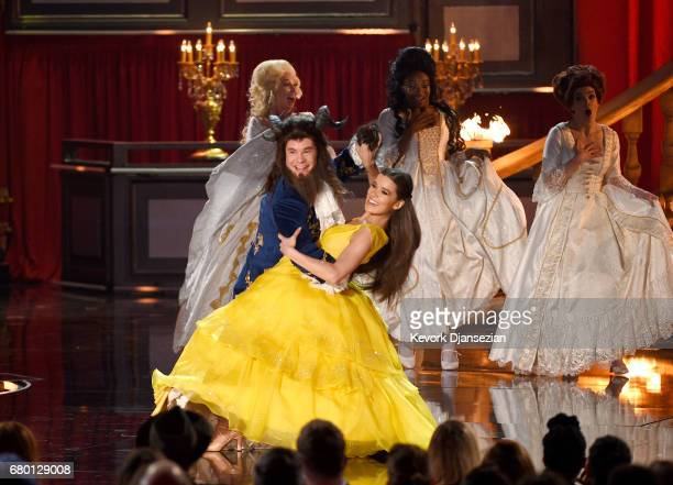 Host Adam DeVine and actor Hailee Steinfeld perform onstage during the 2017 MTV Movie And TV Awards at The Shrine Auditorium on May 7 2017 in Los...