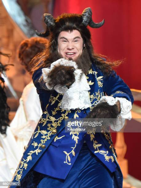 Host Adam DeVine performs onstage during the 2017 MTV Movie And TV Awards at The Shrine Auditorium on May 7, 2017 in Los Angeles, California.