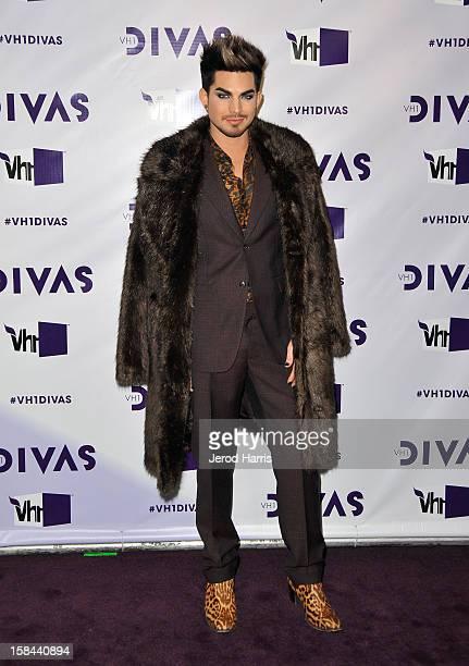 Host Adam Lambert arrives at 'VH1 Divas' 2012 held at The Shrine Auditorium on December 16 2012 in Los Angeles California