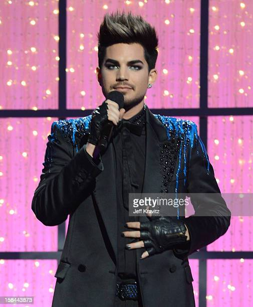 Host Adam Lambert attends 'VH1 Divas' 2012 at The Shrine Auditorium on December 16 2012 in Los Angeles California