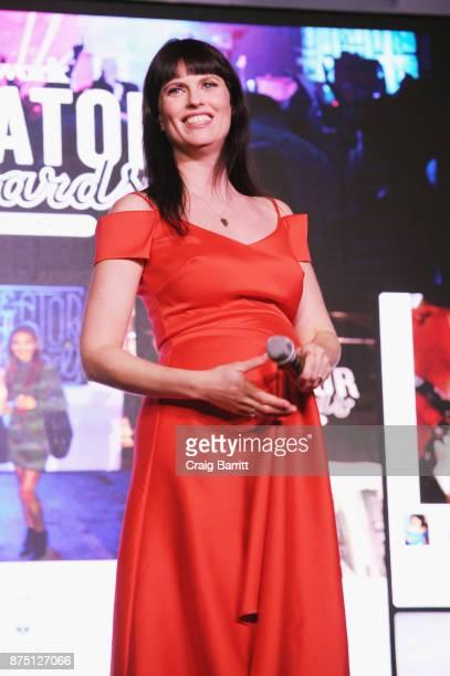 Host Adi Neumann speaks onstage during WeWork Celebrates the New York Creator Awards at Skylight Clarkson Sq on November 16 2017 in New York City