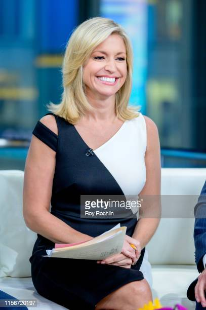 Host Ainsley Earhardt as US Open winner Gary Woodland visits FOX Friends at Fox News Channel Studios on June 18 2019 in New York City