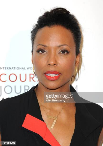 Host Aisha Tyler arrives at the 2012 Courage in Journalism Awards hosted by the International Women's Media Foundation held at the Beverly Hills...