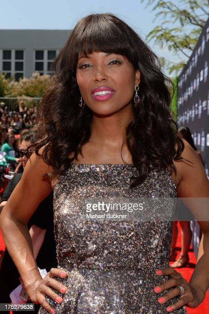 Host Aisha Tyler attends CW Network's 2013 Young Hollywood Awards presented by Crest 3D White and SodaStream held at The Broad Stage on August 1,...
