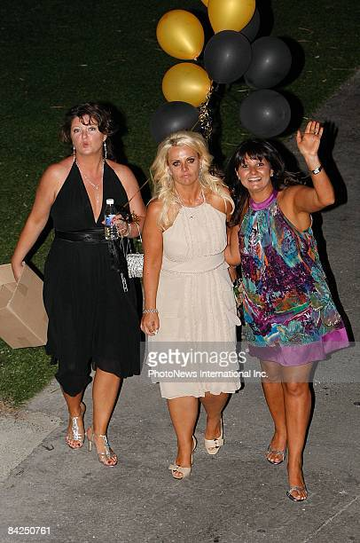 Host Ajay Rochester is seen at the wedding of AFL footballer Jess Sinclair to aspiring pop star Chantelle Delaney at St Kllda on January 11 2009 in...