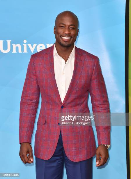 TV host Akbar Gbajabiamila attends NBCUniversal's Summer Press Day 2018 at The Universal Studios Backlot on May 2 2018 in Universal City California