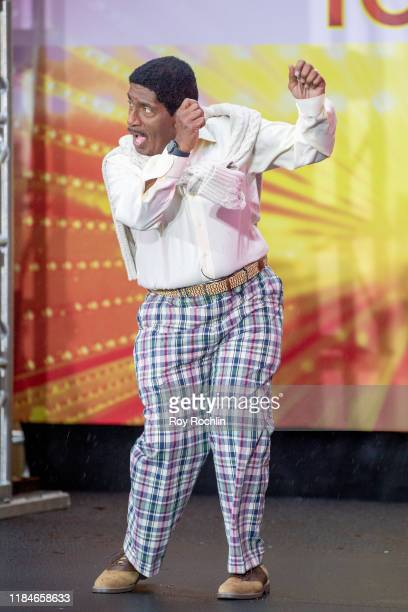 Host Al Roker dressed as Carlton Banks of The Fresh Prince of Bel Air during NBC's Today Halloween Celebration at Rockefeller Plaza on October 31...