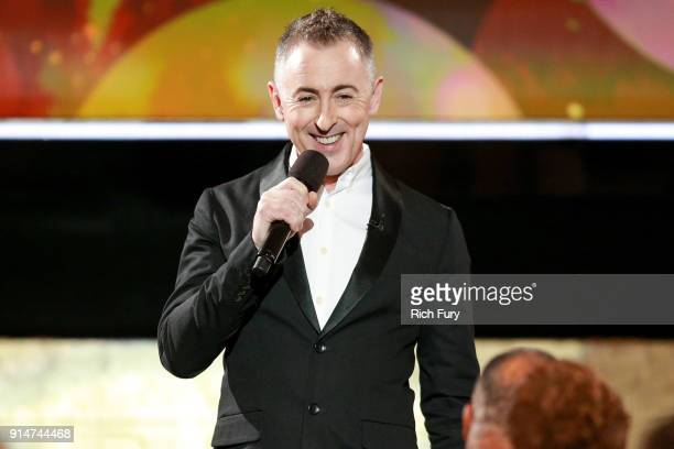 Host Alan Cumming speaks onstage at AARP's 17th Annual Movies For Grownups Awards at the Beverly Wilshire Four Seasons Hotel on February 5 2018 in...