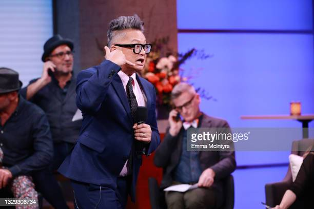 """Host Alec Mapa speaks onstage during Project Angel Food """"Lead With Love 2021"""" Live Telethon at KTLA 5 on July 17, 2021 in Los Angeles, California."""