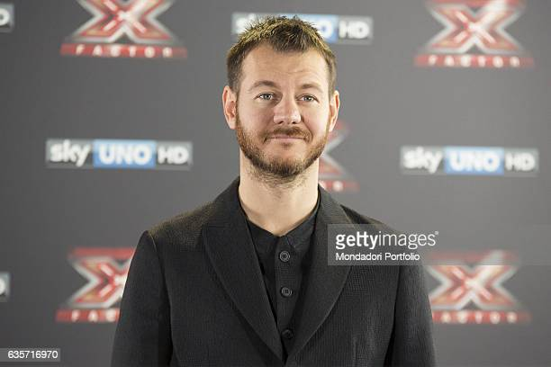 TV host Alessandro Cattelan during the press conference of presentation of the first live episode of the talent show X Factor Milan Italy 26th...
