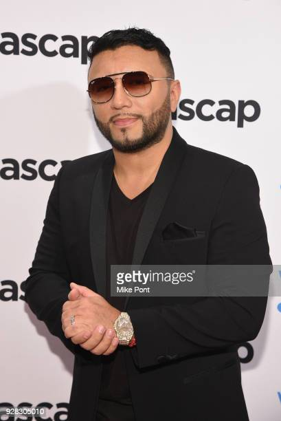 Host Alex Sensation attends ASCAP 2018 Latin Awards at Marriott Marquis Hotel on March 6 2018 in New York City