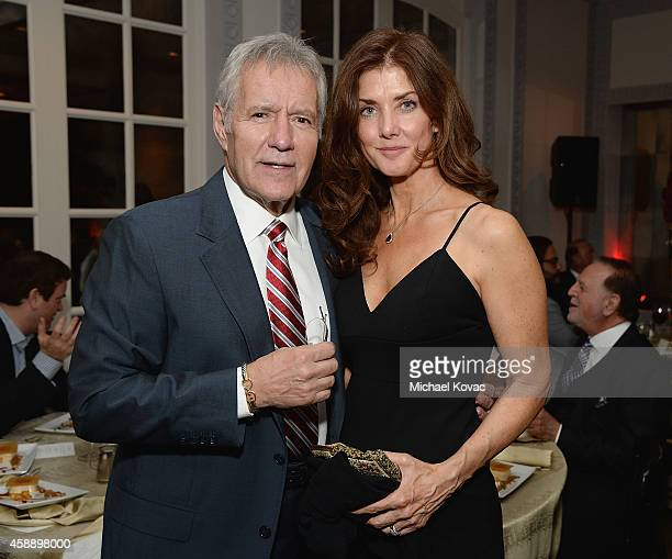 TV host Alex Trebek and Jean Currivan Trebek attend the celebratory dinner after the special tribute to Sophia Loren during the AFI FEST 2014...