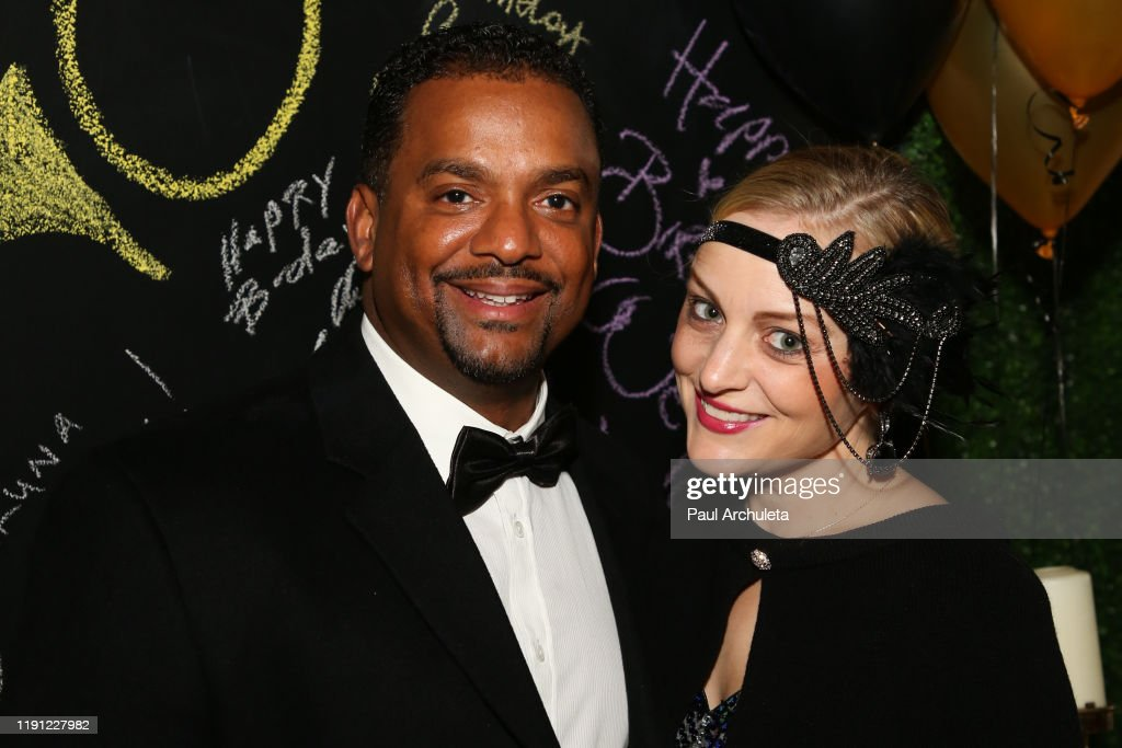 Tv Host Alfonso Ribeiro And His Wife Angela Unkrich Attend The News Photo Getty Images