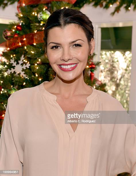 Host Ali Landry attends the 'Santa Paws 2 The Santa Pups' holiday party hosted by Disney Cheryl Ladd and Ali Landry at The Victorian on November 10...