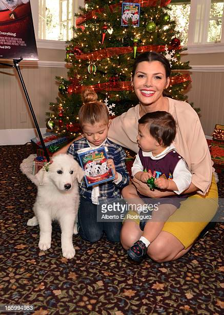 Host Ali Landry with her daughter Estela and son Marcelo attend the 'Santa Paws 2 The Santa Pups' holiday party hosted by Disney Cheryl Ladd and Ali...