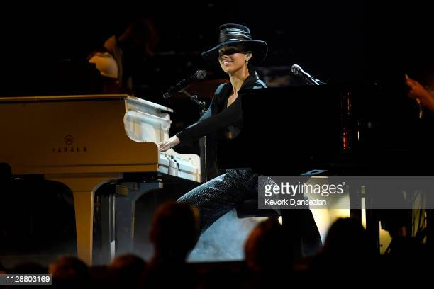 Host Alicia Keys performs onstage during the 61st Annual GRAMMY Awards at Staples Center on February 10 2019 in Los Angeles California