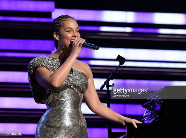 Host Alicia Keys performs onstage during the 62nd Annual GRAMMY Awards at Staples Center on January 26 2020 in Los Angeles California