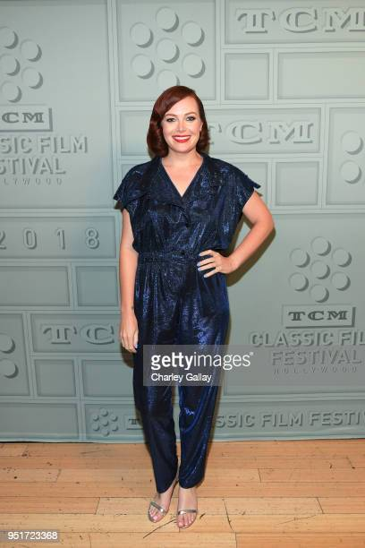 Host Alicia Malone attends the screening of Throne of Blood during Day 1 of the 2018 TCM Classic Film Festival on April 26 2018 in Hollywood...