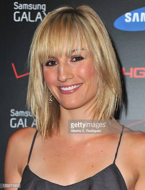 TV host Alison Haislip arrives to the Samsung and Verizon Launch of The Samsung Galaxy Tab 101 on August 2 2011 in West Hollywood California
