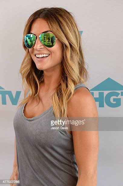 HGTV host Alison Victoria appears at the HGTV Lodge during CMA Music Fest on June 13 2015 in Nashville Tennessee