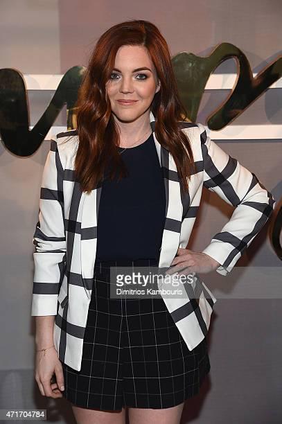 Host Allison McNamara attends the POPSUGAR Digital Newfront 2015 at Cedar Lake on April 30 2015 in New York City