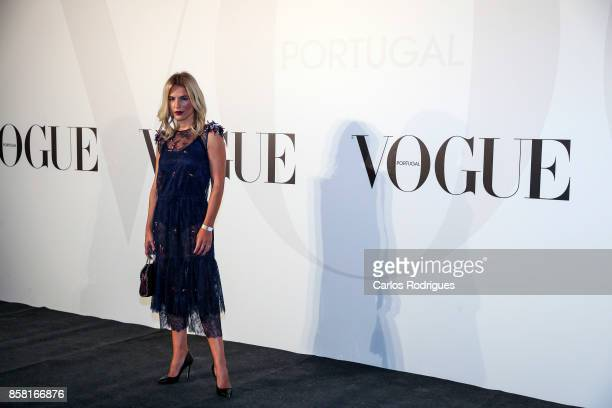 Host Ana Rita Clara attends the Vogue Portugal Party Photocall on October 5 2017 in Lisbon Portugal