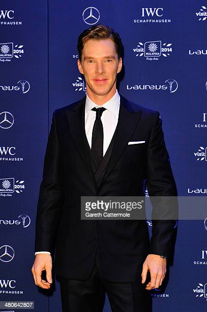 Host and actor Benedict Cumberbatch attends the 2014 Laureus World Sports Awards at the Istana Budaya Theatre on March 26 2014 in Kuala Lumpur...