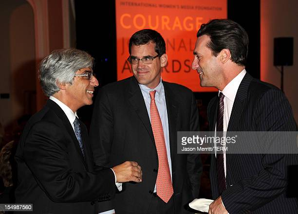 Host and Board of Chairs of IWMF Ted Boutrous and actor Jon Hamm attend the 2012 Courage in Journalism Awards hosted by the International Women's...