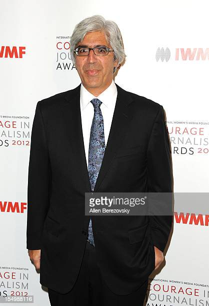Host and Board of Chairs Ted Boutrous arrives at the 2012 Courage in Journalism Awards hosted by the International Women's Media Foundation held at...